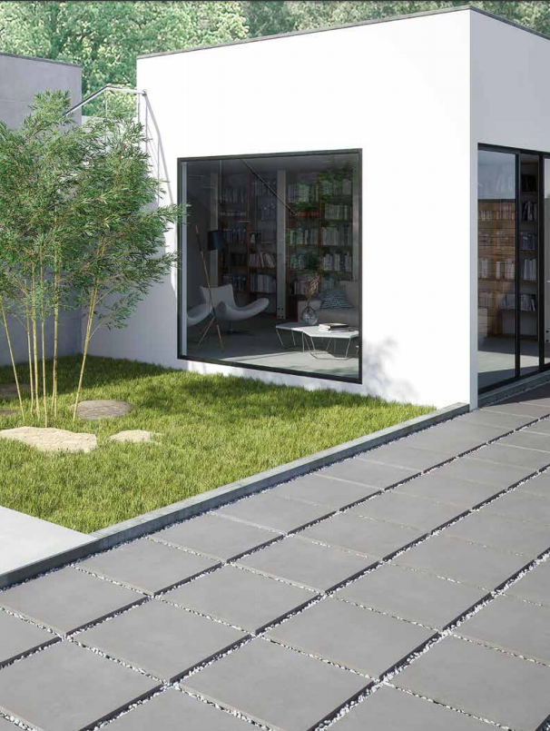 Carrelage Interieur Exterieur Aspect Beton Grands Formats