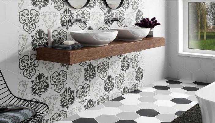 vente de carrelage mural hexagonal montpellier le comptoir de c ram. Black Bedroom Furniture Sets. Home Design Ideas