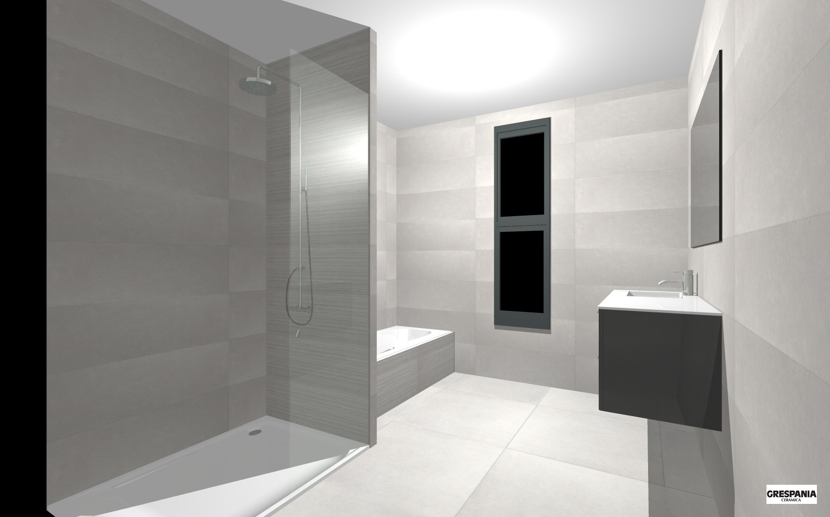 Creations 3d salle de bain montpellier carrelage design for Sdb carrelage