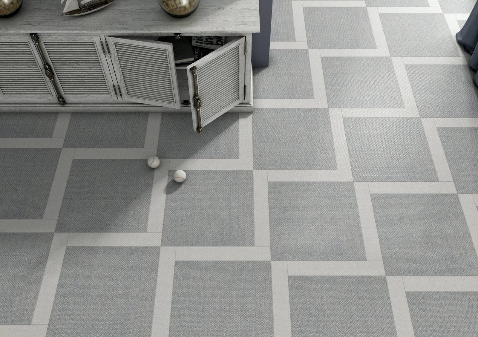 carrelage sol et mur effet tissus toile de jute jacou 34. Black Bedroom Furniture Sets. Home Design Ideas