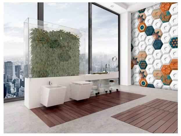 Carrelage Mural Hexagonal A Relief 3d Design Et Unique Salle De