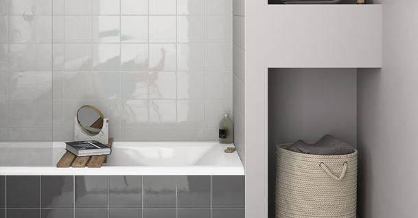 Carrelage mur carré blanc et couleurs brillant 15 x 15 cm AB19 ...