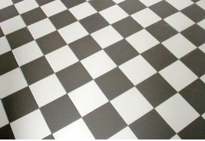 Carrelage Damier Noir Et Blanc Et Couleurs 25 X 25 Cm