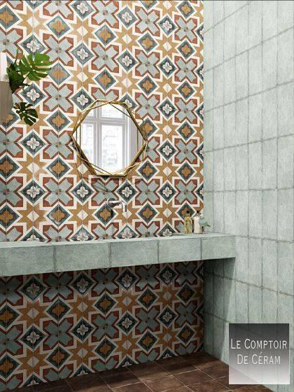 Carrelage Mural Géométrique Style Industriel 15 X 30 Cm à