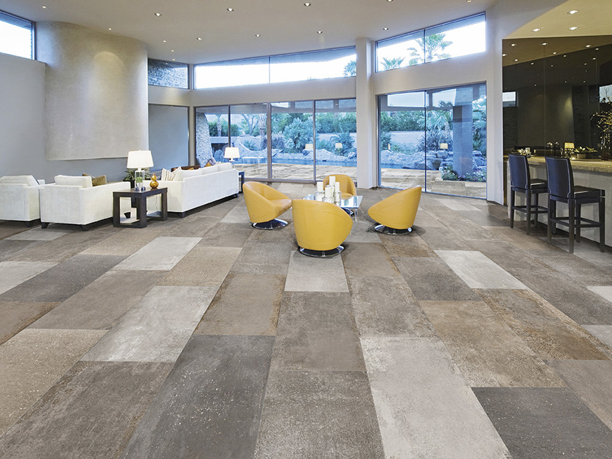 Carrelage aspect pierre vieilli 45x90 gres ceram interieur for Interieur exterieur