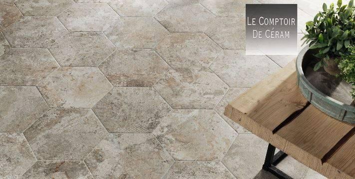 Carrelage Hexagonal Effet Pierre Usee Sol Et Mur B73 Vente De Carrelage Haut De Gamme A Montpellier Le Comptoir De Ceram