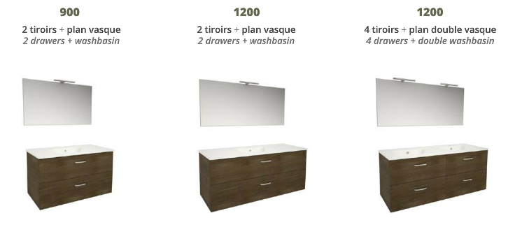 Ensemble meuble de salle de bains familiale fabrication - Fabrication meuble salle de bain ...