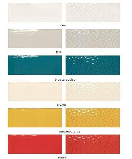 Carrelage mural rectangulaire grand format de couleur au ...