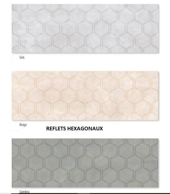 fa ences grand format beton cire aux dessins hexagonaux jacou cb56 vente de carrelage haut de. Black Bedroom Furniture Sets. Home Design Ideas