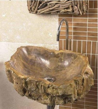 vasque bois fossilise salle de bain montpellier w5 carrelage design le comptoir de c ram. Black Bedroom Furniture Sets. Home Design Ideas