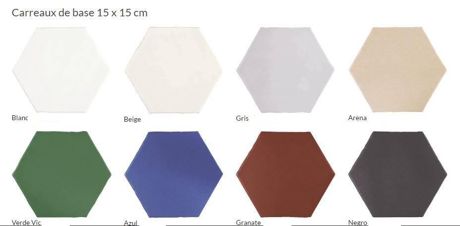 carrelage hexagonal mat blanc couleur 15 X 15 CM mur et sol à