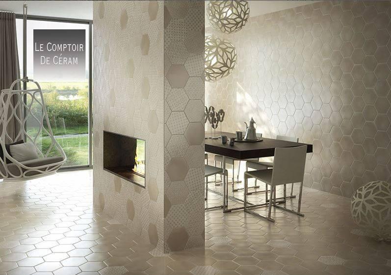 carrelage hexagonal mat blanc couleur 15 x 15 cm mur et. Black Bedroom Furniture Sets. Home Design Ideas