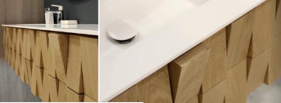 meuble salle de bain bois ch ne massif 3d montpellier w3 carrelage design le comptoir de c ram. Black Bedroom Furniture Sets. Home Design Ideas