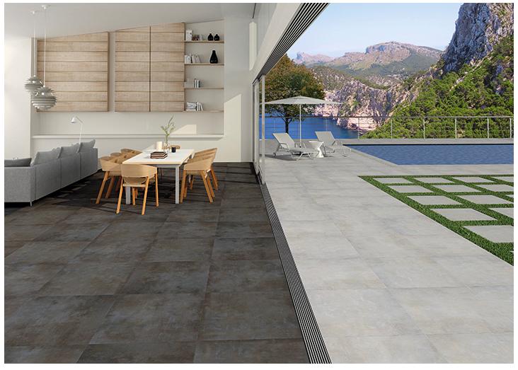 Carrelage ext rieur 20 mm d paisseur effet pierre ou for Epaisseur mini dalle beton exterieur