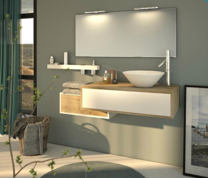 Meuble salle de bain 2 tiroirs une vasque fabrication - Fabricant meuble de salle de bain ...