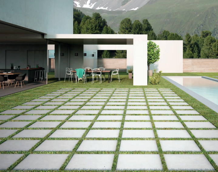 Carrelage terrasse 60 x 120 et 60 x 180 cm grands formats for Carrelage exterieur grande dimension